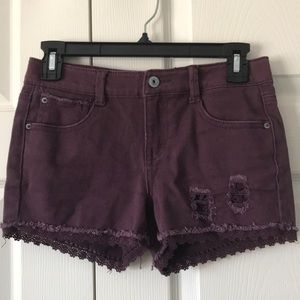 Dark burgundy shorts